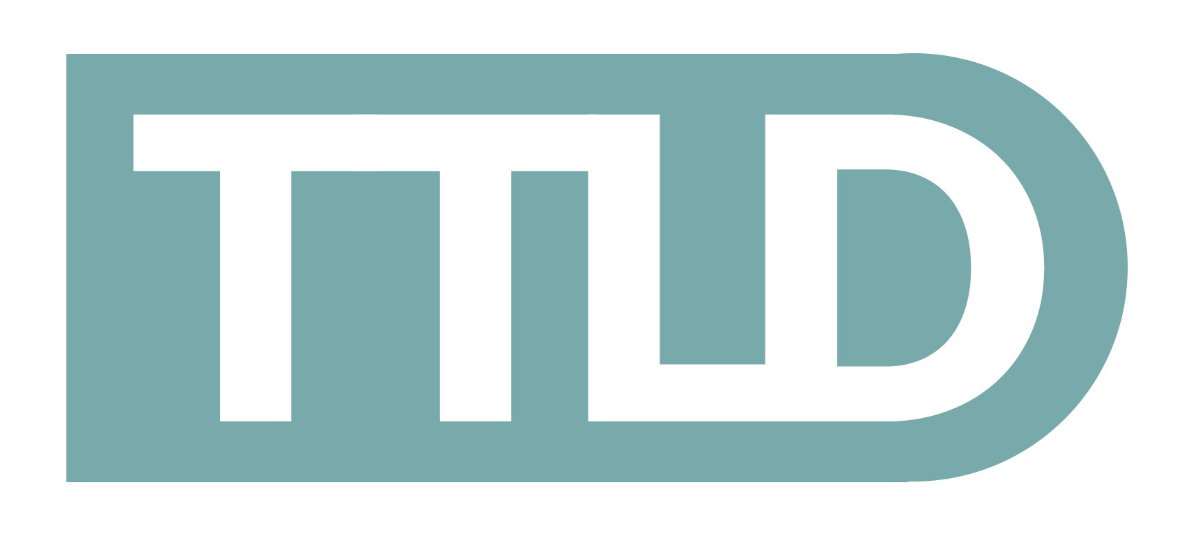 Through the line design logo